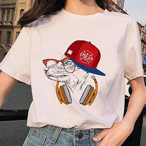 YDXC Camiseta Estampada Pintura Estética Vintage Camisa De Verano Damas para Mujer Camisetas Gráfico para Mujer Aplicar Al Ejercicio De Uso Diario Correr Ciclismo Gimnasio Etc.-Vwp0104Q_XXXL