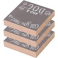木製の箱の看板、木製の工芸品3個美しく実用的な木製の看板の装飾品、家の装飾的な装飾品の装飾的な看板DIY木製の工芸品