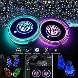 Kaylos Lot de 2 porte-gobelets à LED pour voiture, 7 couleurs changeantes
