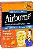 Airborne - Paquete triple de naranja zesty - 30tabletas