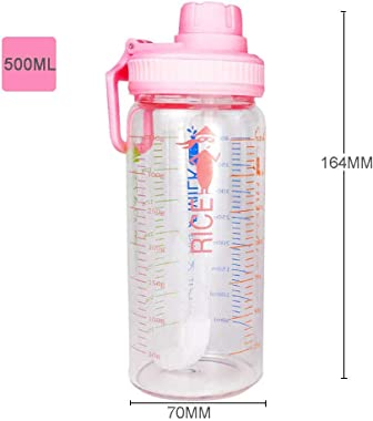 Tea Kettle Straw Glass Cup Heat-resistant Leak-proof 400ml Large Capacity Portable Milk Cup With Scale Multi-function Sports