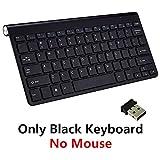NSH 2.4G Teclado y Mouse inalámbricos Mini Teclado Multimedia Mouse Mouse Combo Set para portátil Laptop Mac PC de Escritorio TV