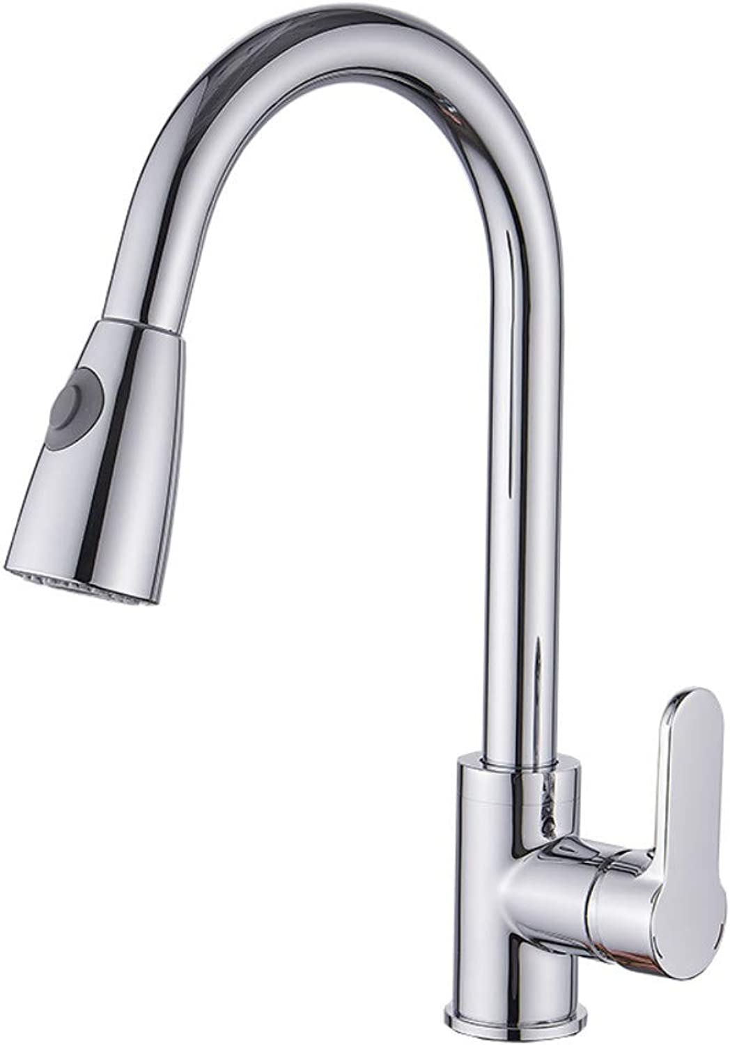Kitchen Taps Bathroom Sink Tapscopper Plating Large Curved Hot and Cold Pull Faucet Kitchen Faucet Sink Faucet