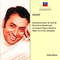 Mozart: Symphonies 34 39 40 / Eine Kleine by ZUBIN MEHTA