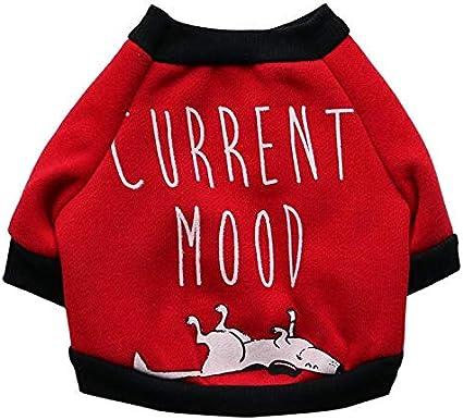 Cosanter Magliette per Cane di Natale Invernale Costumi Vestitini Cani Piccoli Felpe con Cappuccio Abbigliamento