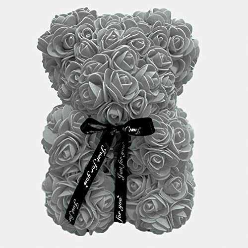Never-hu Oso De Peluche Rosa Artificial, Oso De Peluche Juguetes Flor