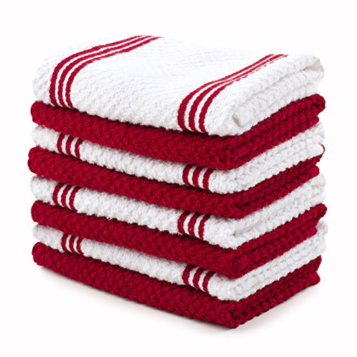 Top 10 Best Selling List for red and white kitchen towels
