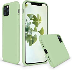 Vooii iPhone 11 Pro Max Case, Soft Liquid Silicone Slim Rubber Full Body Protective iPhone 11 Pro Max Case Cover (with Soft Microfiber Lining) Design for iPhone 11 Pro Max - Matcha