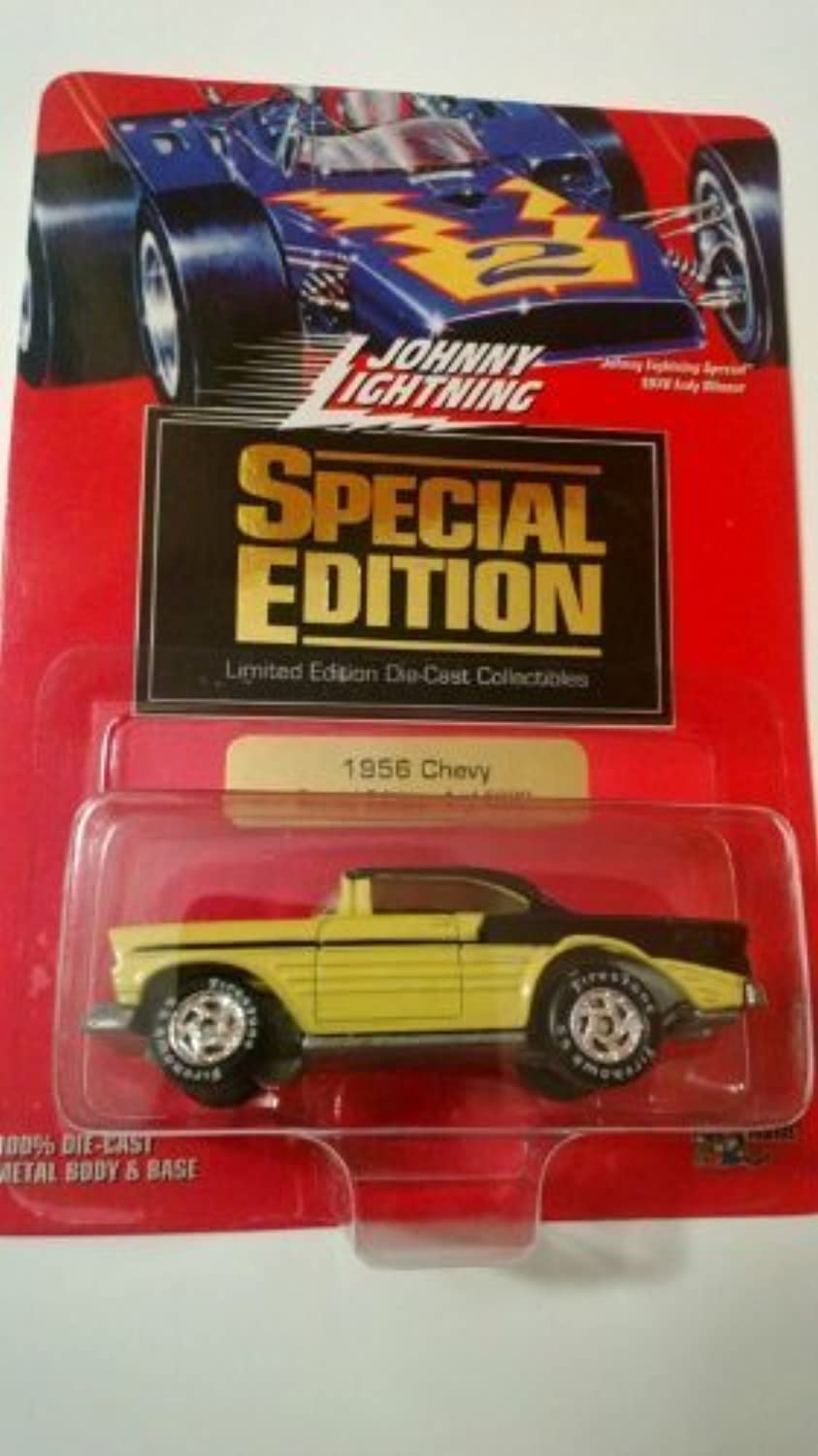Johnny Lightning Special Edition 1 of 5000 1956 Chevy Yellow Black by Playing Mantis