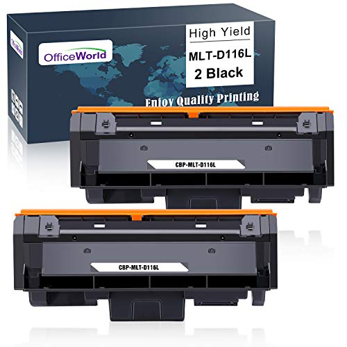 OfficeWorld MLT-D116L Schwarz Toner Ersatz für Samsung MLT-D116L MLT-D116S für Samsung Xpress M2675FN M2835DW M2885FW M2825DW M2825ND M2875FW M2875FD M2625D M2675 M2825 M2835 M2875 M2885 (2 Pack)
