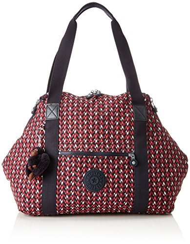 Kipling ART M Bolsa de tela y playa, 58 cm, 26 liters, Varios colores (Pink Chevron) (Luggage)