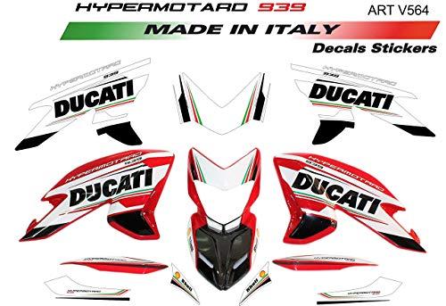 Vulturbike Kit de Pegatinas para Ducati Hypermotard 939 Design Tricolor