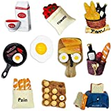Molioon 10pcs Food Refrigerator Magnets, Cute 3D Magnets for Fridge Funny Home Decoration for Kitchen Office Dry Erase Board/Whiteboard Magnets