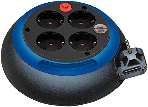 Brennenstuhl Comfort Line Kabelbox CL-S 4-fach / Mini-Kabeltrommel (Indoor-Kabeltrommel für Haushalt, 3m Kabel) schwarz/blau