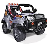 FEBER - Vehículo infantil de 2 plazas X-Storm Bravo High Speed 12V con luces y sonidos (Famosa...