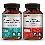 Relax and Refresh Supplements Bundle by DailyNutra: Includes Calmness Formula and KSM-66 Ashwagandha