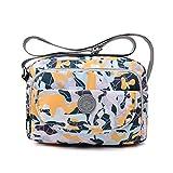 tuokener Bolso de Mujer Bandolera Bolsillos Impermeable Bolsos Pequeños Bandoleras Bolsa para Viaje Crossbody Bag Nylon Waterproof (Camuflaje)