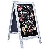 RHF Extra Large 40'x22' Chalkboard Sign, Handcrated A Framed Chalk Board Sign,Sandwich Black Board,Rustic Wedding Signs,Chalkboard Easel,Sidewalk Sign,Double Sided Message Board,Free Standing,White