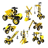 SZJJX STEM Building Toys, 100 PCS 8-in-1 Learning Construction Toys for 5 Year Old Boys, Erector Set...