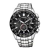 [シチズン] 腕時計 シチズン コレクション エコ・ドライブ電波時計 ダイレクトフライト クロノグラフ CB5874-90E メンズ シルバー