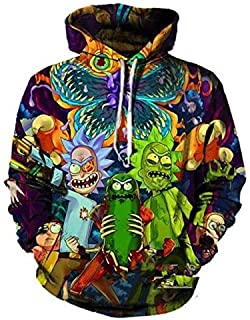Rick and Morty Sweater 3D Print Men's Color Hooded Hoodie 03
