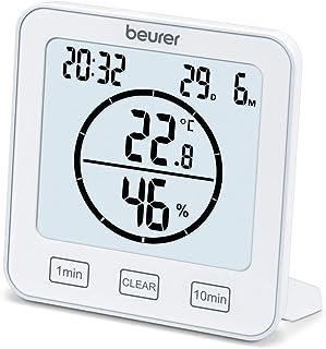 Beurer HM 22 thermo-hygrometer, kamerklimaatregeling, meting van temperatuur en relatieve luchtvochtigheid, met timer en s...