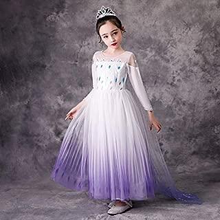 Antshouse Girl's Princess Snow Queen Elsa Party Cosplay Costume Dress