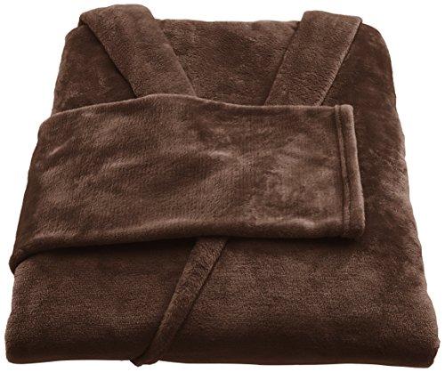 Amazon Basics - Coperta in pile con maniche e tasca per i piedi, 170X200cm, Marrone