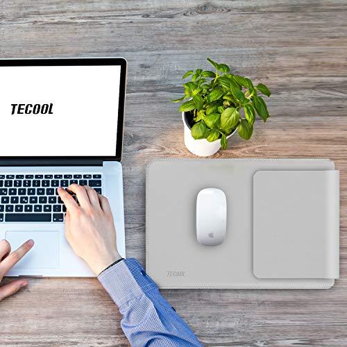 TECOOL Laptop Hülle 13 Zoll Tasche, Laptop Sleeve Kunstleder Schutzhülle Case für MacBook Air/Pro Retina 13,3, HP Envy x360, Huawei 13 MateBook E/X, ASUS Flip C302CA, Dell 13 XPS -HellGrau - 3