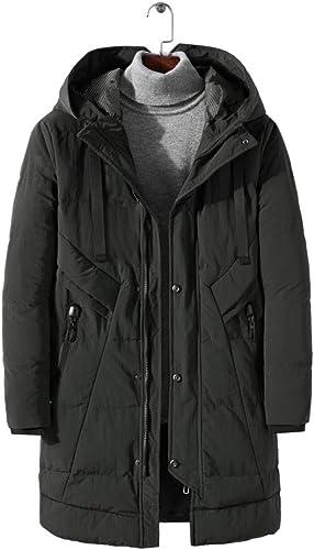 ASDSI-1 Manteau d'hiver à Capuchon en Coton pour Hommes Jeunes Nouveaux Longs Et épais