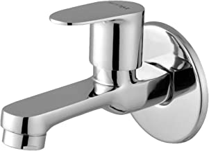 Smile Phantom Series Long Body Stainless Brass Chrome Finish Water Tap for Bathroom Kitchen Sink Garden (Silver, 1 Piece)