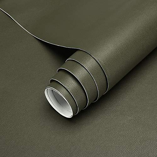 KINLO Pegatina de Cuero Artificial PU, Papel Pared Adhesivo Impermeable, utilizado para Decorar y Proteger, Remodelar Muebles Sofá, a Prueba de Agua de Moho, 45*200cm per Rollo