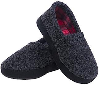 festooning Little Kids Boys Winter Warm House Slippers Fleece Memory Foam Slip-on Indoor Shoes