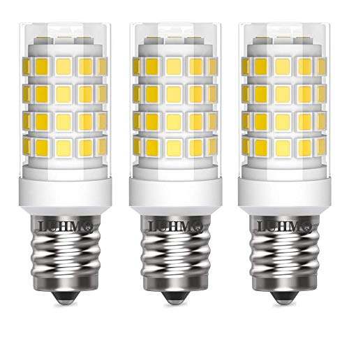 LUHMQ E14 LED Bulbs 3 Pack E14 European Screw Base for Electric Window Candle LampRefrigerator Bulb E14 Cooker Hood Oven Bulb35W Equivalent to35W Incandescent Bulb 350LM AC120V DaylightWhite6000K