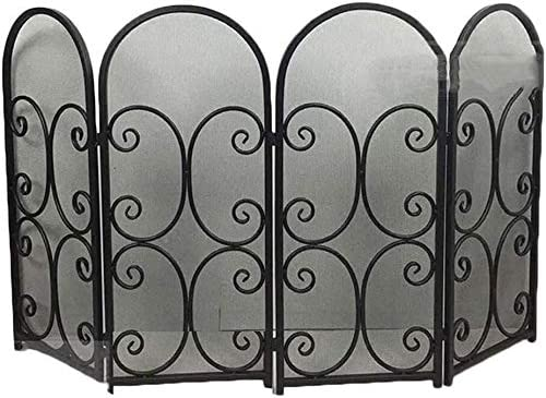 LLNN Fireplace Screen Flat Safe Manufacturer OFFicial shop Proof Fence Surprise price 4 Panel Fire Place
