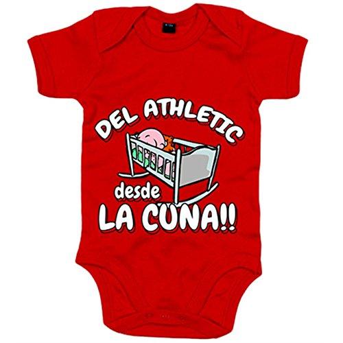 Body bebé del Athletic desde la cuna Bilbao fútbol - Rojo, 6-12 meses