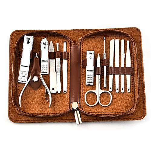 Kapmore Trousse à outils professionnelle de soin des ongles 13PCS Manicure Tool Set