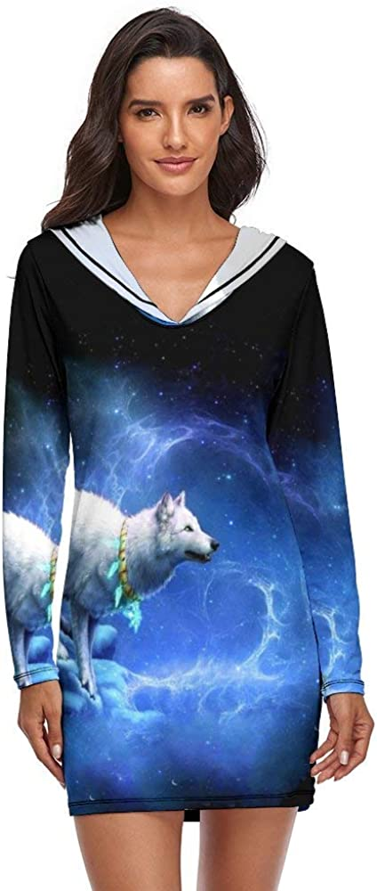 Sexy Women's Pajama Sets Wolf in Memphis Mall Ranking TOP10 Space Cool