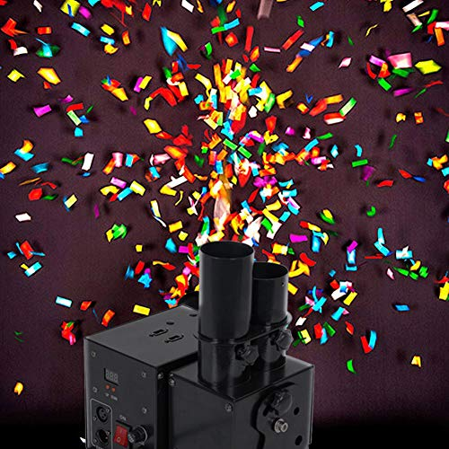 SJTL Konfetti Kanonen Maschine Konfetti Kanonen Maschinen DMX Fernsteuerungskanonen Abschussrampe für DJ Ereignis Hochzeits Feiertags Halloween Effekt