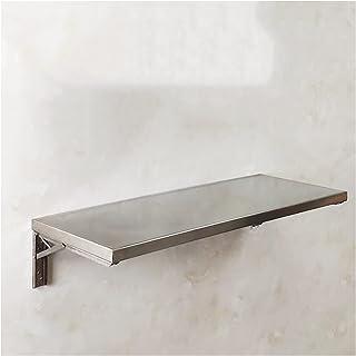 GHHZZQ Table Pliante Murale Acier Inoxydable 304 Bureau Flottant Table De Travail pour Buanderie Kitchen Salle À Manger, F...