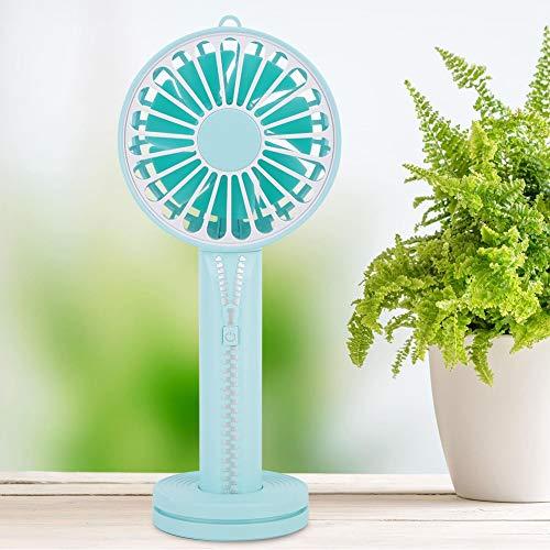 Kleine Persoonlijke Mini Handheld Zomer Koelventilator Rits Power Bank Fans voor Home Desktop Office(lichtblauw)