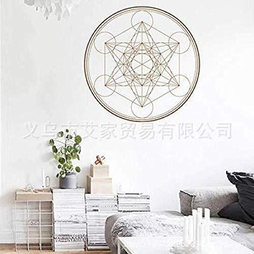 JXLLCD creatieve persoonlijkheid ronde driehoek muursticker behang sticker slaapkamer woonkamer kinderkamer 57x57cm