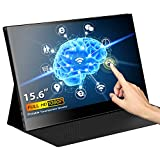Eyoyo 15.6 inch Touchscreen Monitor 1920x1080 IPS Portable USB C Monitor Second Monitor Mini PC Screen w/USB-C and HDMI Input Compatible with Smartphone Xbox One PS4 Switch Raspberry Pi