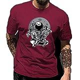 Camiseta Hombre Manga Corta Cuello Redondo Estampados Creativos Tops...