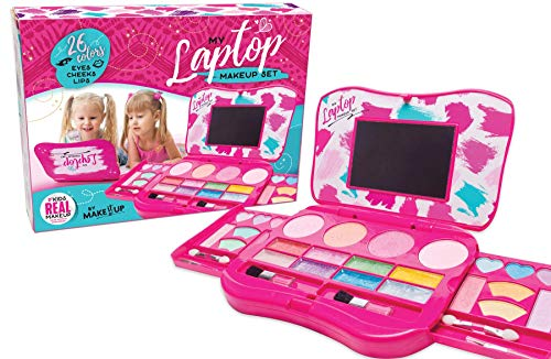 My First Makeup Set, Girls Makeup Kit, Fold Out Makeup Palette with...