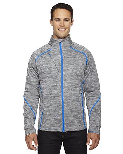 North End Sport Men's Flux Mélange Bonded Fleece Jacket, Large, PLATINUM 837