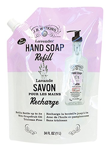 J.r. Watkins Lavender Refill Liquid Hand Soaps, 34 Oz