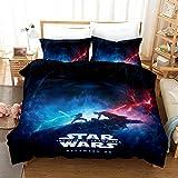 Vampsky Star Wars Stampa twin set copripiumino biancheria da letto for i bambini reversibile casa texitile letto di cotone 100% con 1 Consolatore Coperchio 2 Pillow Shams, 3 pezzi delle ragazze dei ra
