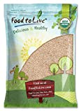 Organic Whole Wheat Bread Flour, 8 Pounds - Whole Grain, Stone Ground, Unbleached, Non-GMO, Kosher, Unbromated, Raw, Vegan, Bulk, Product of the USA
