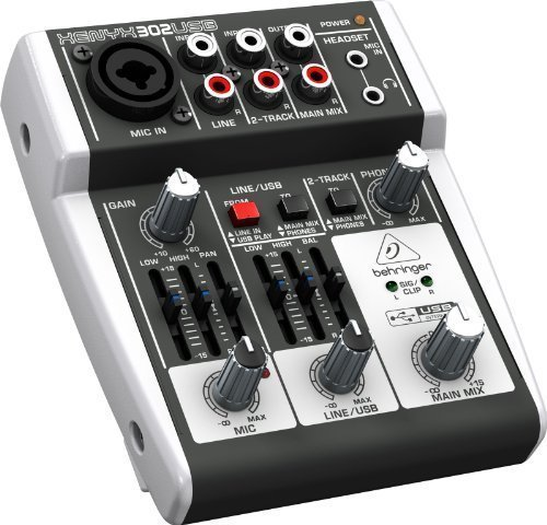 Behringer Xenyx 302 USB Mischpult/ Mixer für Livemusik, Karaoke etc.